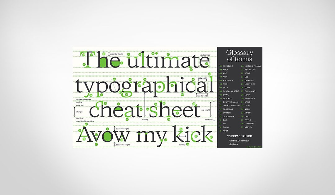 7 Incredible Typography Cheat Sheets & Infographics